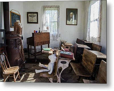 Metal Print featuring the photograph One Room Schoolhouse by Ann Bridges