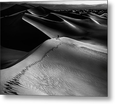 One Set Of Footprints Metal Print by Simon Chenglu