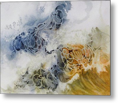 One-step-at-a-time Metal Print by Nancy Newman