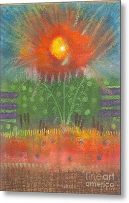Metal Print featuring the painting One Sunny Day by Angela L Walker