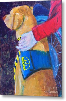 Metal Print featuring the painting One Team Two Heroes 3 by Donald J Ryker III