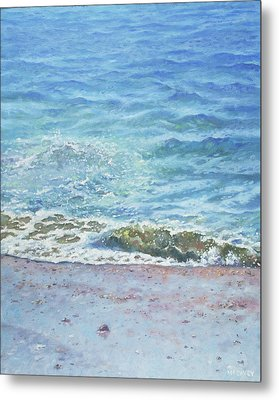 Metal Print featuring the painting One Wave by Martin Davey