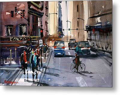 One Way Street - Chicago Metal Print