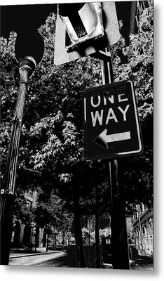 One Way To Go Metal Print by Gulf Island Photography and Images