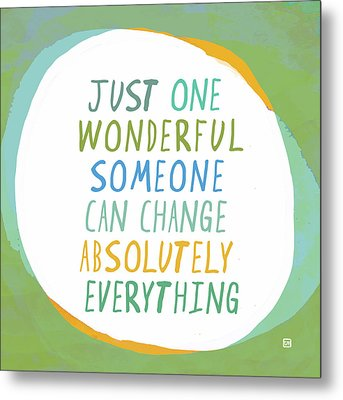 Metal Print featuring the painting One Wonderful Someone by Lisa Weedn