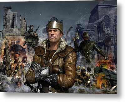 One World One King Metal Print by Kurt Miller