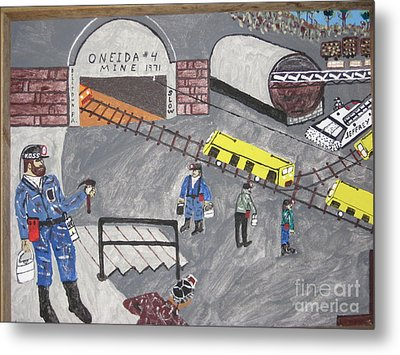 Metal Print featuring the painting Onieda Coal Mine by Jeffrey Koss