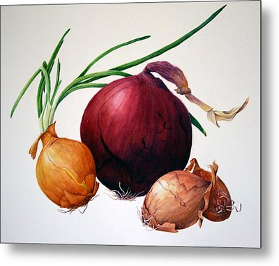Onion Medley Metal Print by Margit Sampogna