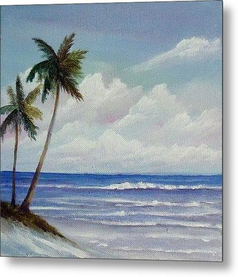 Only In Miami Beach Metal Print by Rosie Brown