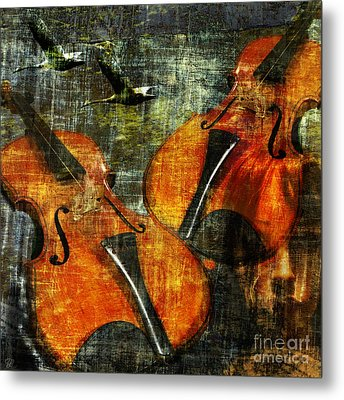 Only Music Heals A Broken Heart Metal Print by LemonArt Photography