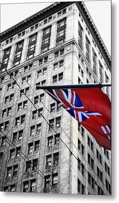 Ontario Flag Metal Print by Valentino Visentini