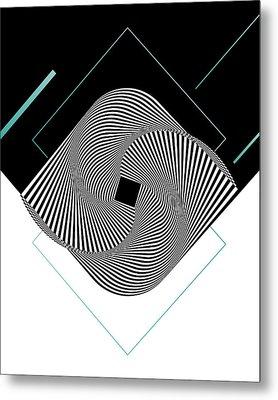 Op Art Metal Print by BONB Creative