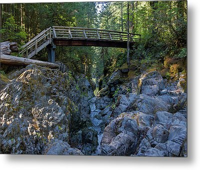 Opal Creek Bridge Metal Print