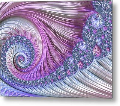 Metal Print featuring the digital art Opal Nautilus by Susan Maxwell Schmidt