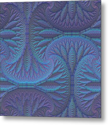 Metal Print featuring the digital art Opalescence by Lyle Hatch