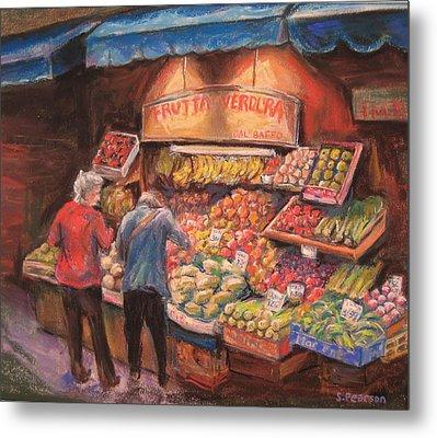Open Air Market  Bologna Metal Print by Sam Pearson