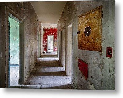Open Doors - Abandoned Building Metal Print by Dirk Ercken