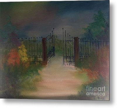Metal Print featuring the painting Open Gate by Denise Tomasura