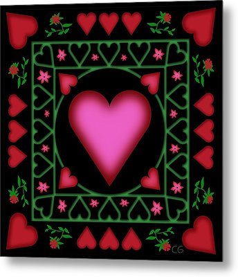 Open Heart Metal Print by Clare Goodwin