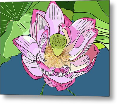 Open Lotus Metal Print