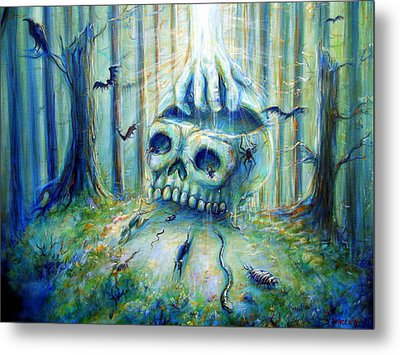Metal Print featuring the painting Open Mind by Heather Calderon
