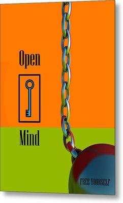 Open Mind Metal Print by Richard Rizzo