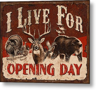 Opening Day Sign Metal Print