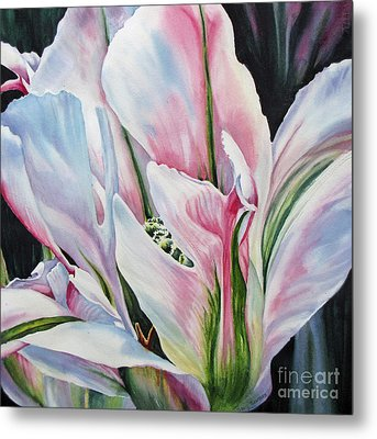 Opening-up Metal Print by Nancy Newman