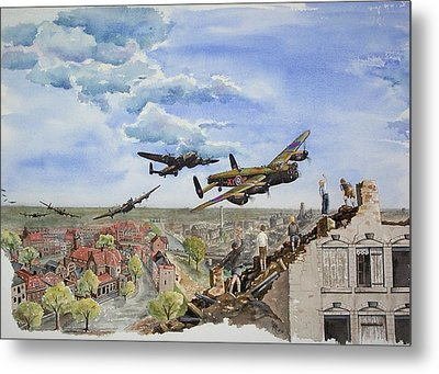 Operation Manna I Metal Print by Gale Cochran-Smith