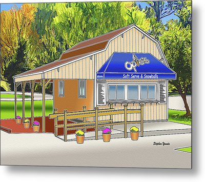 Opie's Snowball Stand Metal Print by Stephen Younts