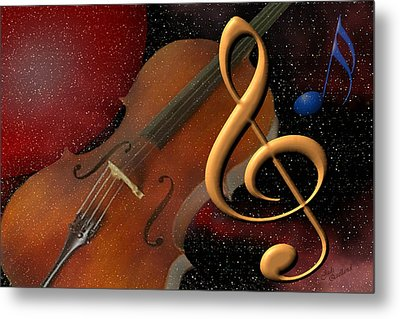 Opus For The Final Frontier Metal Print by Judi Quelland
