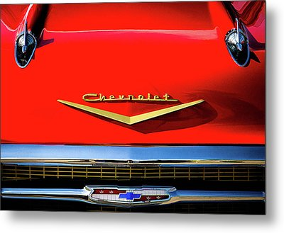 Orange '57 Chevy Metal Print by Douglas Pittman