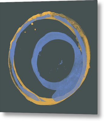 Orange And Blue 3 Metal Print