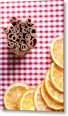 Orange And Cinnamon Metal Print