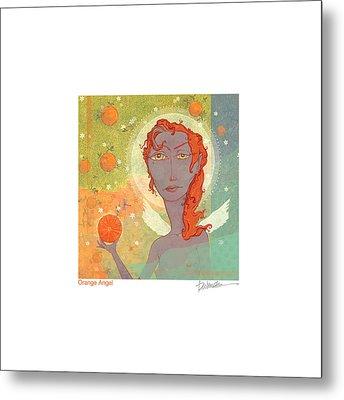Orange Angel Poster Metal Print by Dennis Wunsch