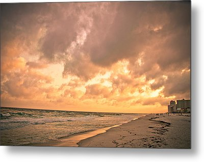 Orange Beach Metal Print by Victoria Lawrence