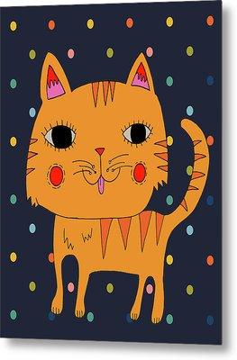 Orange Cat Metal Print by Nicole Wilson