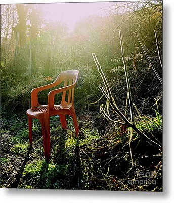 Orange Chair Metal Print by Bernard Jaubert