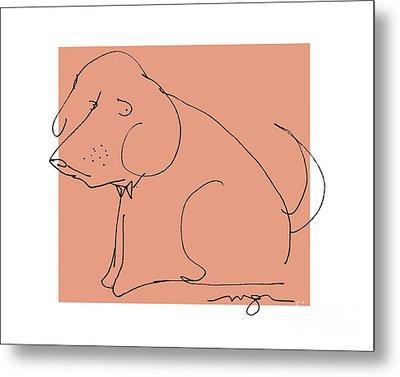 Orange Dog Metal Print