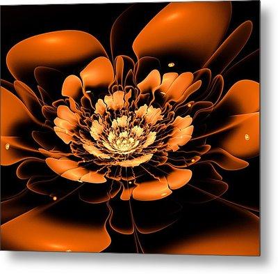 Orange Flower  Metal Print by Anastasiya Malakhova