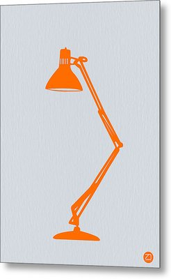 Orange Lamp Metal Print by Naxart Studio