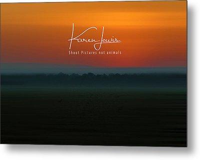 Metal Print featuring the photograph Orange Mara Dawn by Karen Lewis
