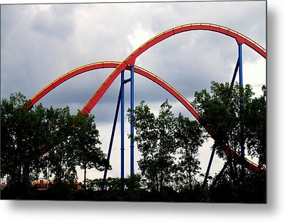 Orange Mobius Metal Print by Robert Knight