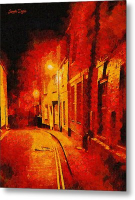 Orange Night - Da Metal Print