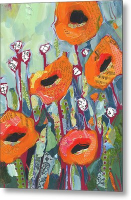 Orange Poppies Metal Print by Shelli Walters
