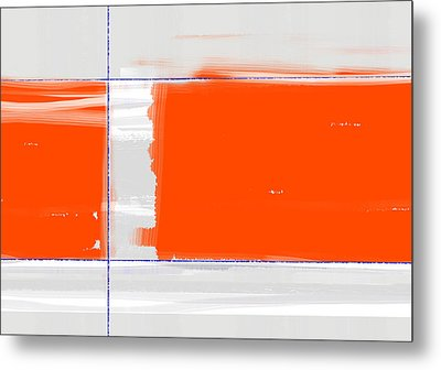 Orange Rectangle Metal Print by Naxart Studio