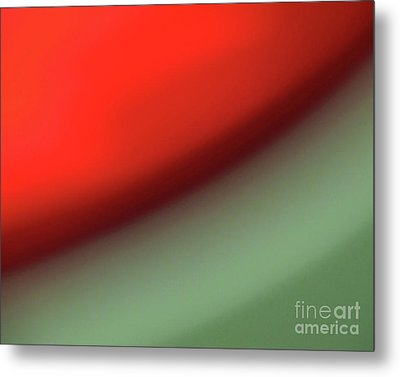 Orange Red Green Metal Print by CML Brown