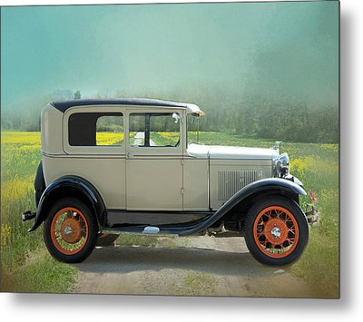 Metal Print featuring the photograph Orange Rims by Robin-Lee Vieira