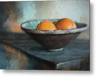 Metal Print featuring the photograph Orange by Robin-Lee Vieira