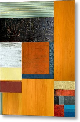 Metal Print featuring the painting Orange Study With Compliments 2.0 by Michelle Calkins